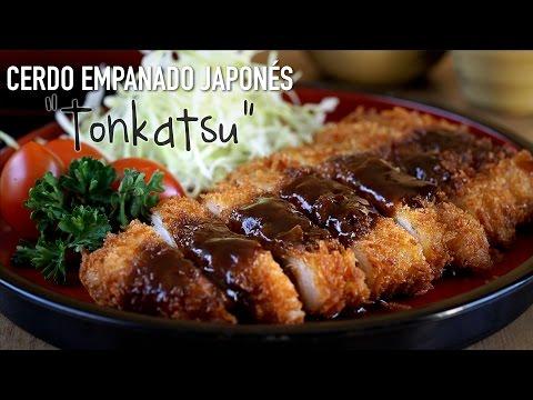 """Chuleta de cerdo empanado estilo japonés """"Tonkatsu"""" - Japanese Pork Cutlet Recipe"""