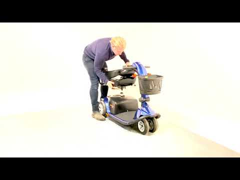 Pride Colt Twin Used Electric Mobility Scoter Transportable Trike Pavement Folding
