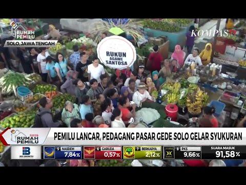 Pemilu Lancar, Pedagang Pasar Gede Solo Gelar Syukuran