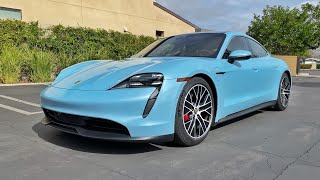 2021 Porche Taycan 4S Performance Battery Plus Walkaround (No Talking)(ASMR) by MilesPerHr