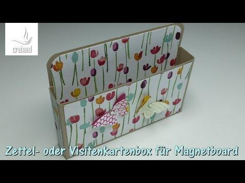 Zettel- oder Visitenkartenbox für Magnetboard mit Stampin' Up!