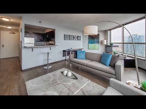 A West Loop 1-bedroom model at the popular Presidential Towers