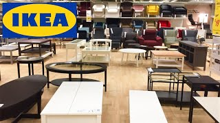 IKEA COFFEE TABLES ARMCHAIRS CHAIRS HOME FURNITURE DECOR SHOP WITH ME SHOPPING STORE WALK THROUGH