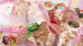 How To Make Popcorn Box / Birthday Favors / Birthdays Ideas