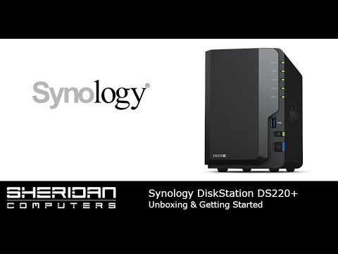 Synology DS220+ NAS Overview - Unboxing and setup