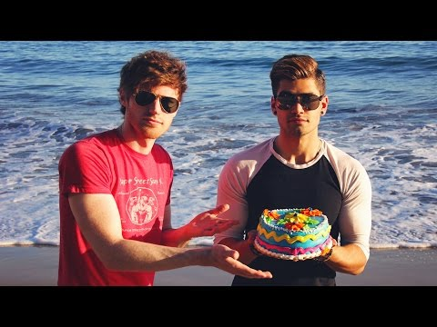 Enjoy watching us eat cake by the ocean while singing Cake By The Ocean!