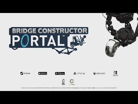 Bridge Constructor Portal Gameplay Trailer de Bridge Constructor Portal