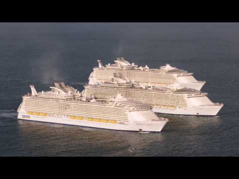 World's Three Biggest Cruise Ships Meet At Sea