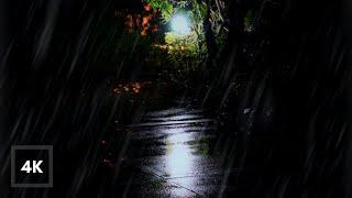 Sanfte Nachtregengeräusche | Stetiger Regen in der Nacht zum Entspannen, Schlafen, Lernen