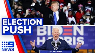 Trump and Biden ramp up campaign efforts to vote early | 9 News Australia