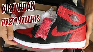 Air Jordan 1 Bred/Banned 2016 First Thoughts!!!