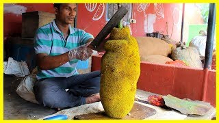 FRUIT NINJA of JACKFRUIT | Amazing Jackfruit Fruits Cutting Skills | Indian Street Food In 2018