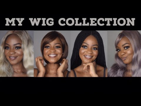 My WIG Collection | Trying On Different Wigs | Omobola Missglam