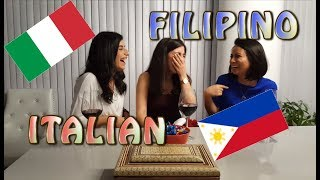 Similarities between Italian and Tagalog