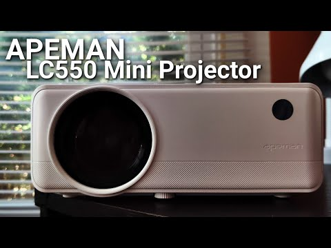 A $130 projector that's actually GOOD? | APEMAN LC550 Mini Projector Review