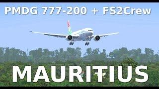 preview picture of video 'PMDG 777-200 MAURITIUS +FS2CREW+'