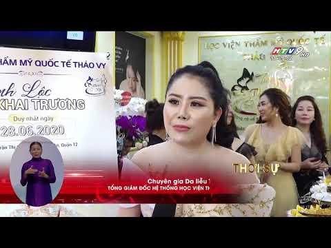 HTV9 vừa đưa tin nóng về sự kiện khai trương chi nhánh 4 – Học viện Thẩm mỹ Quốc Tế Thảo Vy