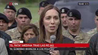 """María Eugenia Vidal tras la detención del """"Pata"""" Medina"""