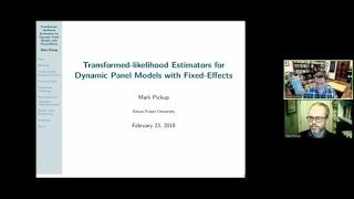 "Mark Pickup, ""Transformed-likelihood Estimators for Dynamic Panel Models with Fixed-Effects"""