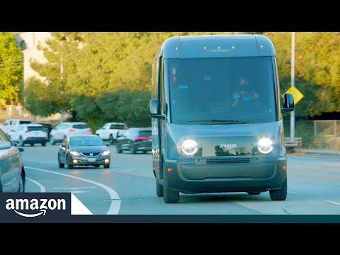 Il furgone elettrico Amazon realizzato con Rivian