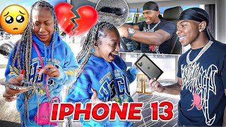 RUNNING OVER MY SISTERS PHONE WITH A CAR THEN SURPRISING HER WITH A BRAND NEW IPHONE 13!