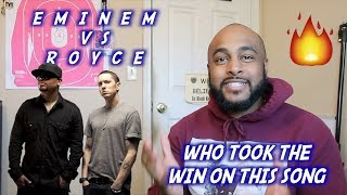 EMINEM VS ROYCE   WHO WON ON THIS SONG?   WELCOME 2 HELL REACTION