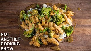 CHICKEN WITH BROCCOLI IN A BROWN SAUCE | CHINESE TAKE OUT AT HOME
