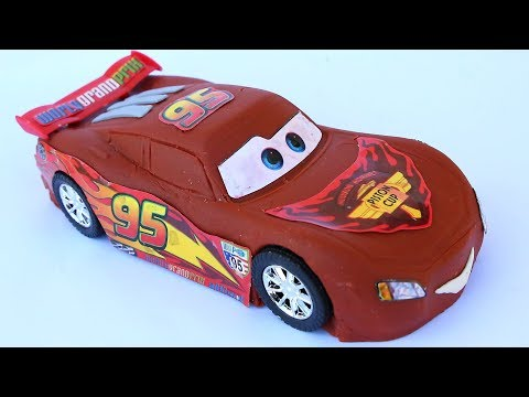 DIY How To Make Play Doh Chocolate Disney Cars Lightning Mcqeen New Movies Play Doh Modelling Clay