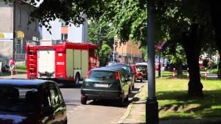 Pożar w RCKP i w bloku na ul. Kolejowej w Krośnie