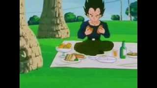 Vegeta comparte su comida!