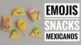 Emojis De Snacks Mexicanos | Porcelana Fría | Mis Mejores Ideas | Polimer Clay Tutorial