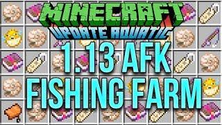 Minecraft 1.13 AFK Fishing Farm Tutorial For The Update Aquatic