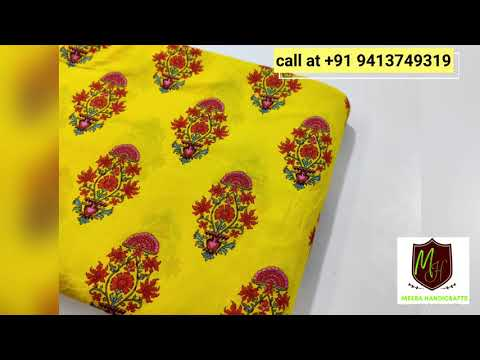 Meera Handicrafts Block Printed Fabric