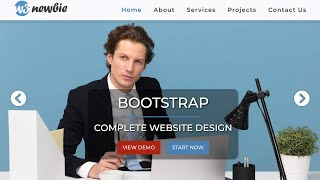 Build A Complete Bootstrap Website with HTML5, CSS3, Bootstrap 4 & VS Code - Bootstrap 2020 Design