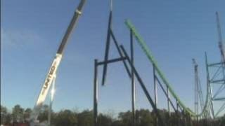 Kingda Ka Rollercoaster Construction Time Lapsed Video