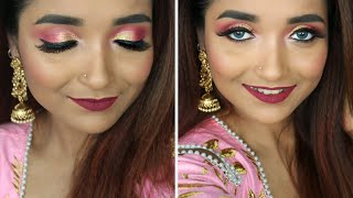 EID 2020 MAKEUP TUTORIAL For BEGINNER - GRWM For EID Using AFFORDABLE INDIAN MAKEUP In RS 500  - Download this Video in MP3, M4A, WEBM, MP4, 3GP