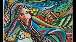 Acrylic painting-Naïve Art by Sara Tamjidi franco-iranian painter