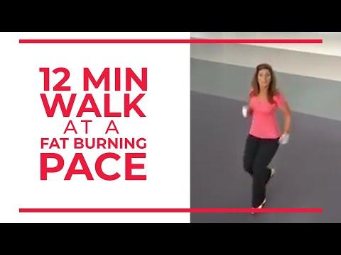 12 Minute Walk at Fat Burning Pace | Walk at Home