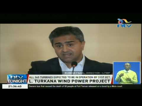 L. Turkana wind power project is expected to have an average output of 65%, or 200MW