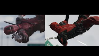 Deadpool - Red Band Trailer in GTA V Side by Side Comparison