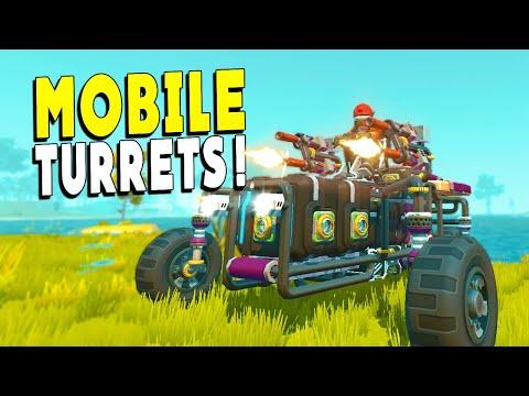 Mobile Turrets Put a STOP to All FarmBots! - Scrap Mechanic Survival