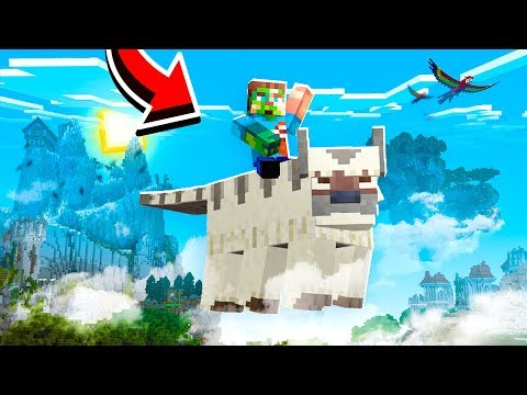 TAMING A SKY BISON IN MINECRAFT!