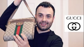 GUCCI OPHIDIA SMALL MESSENGER BAG REVIEW | MY FIRST LUXURY MENS BAG & LOUIS VUITTON Vs. PRADA