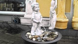 preview picture of video 'Menneken Pis Manneken Pis Wasserspeier Wasserspiel Gartenfigur Steinkunst HGH Dekor'