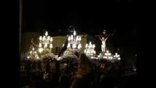 preview picture of video 'Encuentro del Cristo de la Paz, La Virgen y San Juan (Jueves Santo, Zarandona, 2012)'