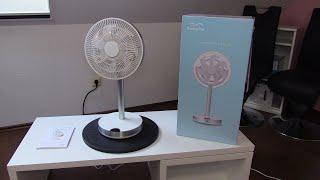 Kamome Ventilator Office - Standventilator Tischventilator extrem leise - 3D Oszillation - TEST