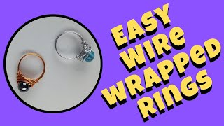 Simple Wire Wrapped Rings DIY Jewelry Making Tutorial