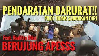 PENDARATAN DARURAT Berujung Maut Ft. Raditya Dika   PILOT APES Part 2
