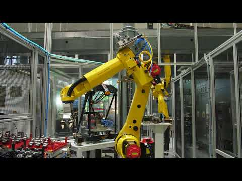 Robotic Tray Stacking & Machine Tending System