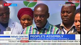 Boni Khalwale lists the heads in various Counties in the People's Assembly